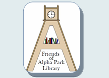 Friends of the Alpha Park Library Logo
